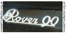 Rover 90 Badge