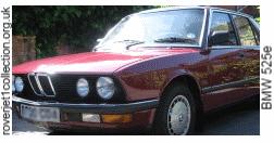 BMW 525e Karminrot