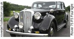 1949 Rover 75 P3 Four light